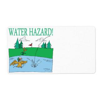 Water Hazard Shipping Label