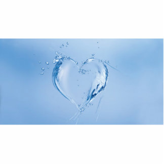 Water Heart Photo Sculpture Decoration
