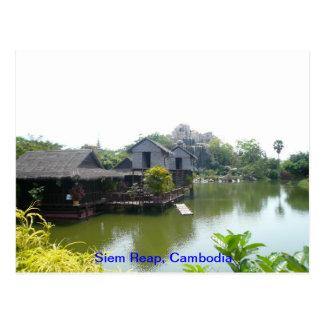 Water house in Siem Reap Postcard
