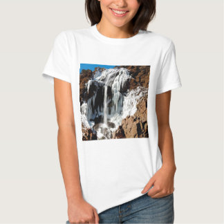 Water Ice Formation On Rocks T Shirt