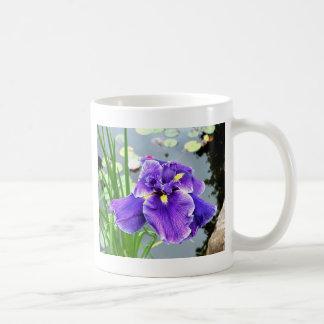 """""""Water Iris"""" Basic White Mug"""