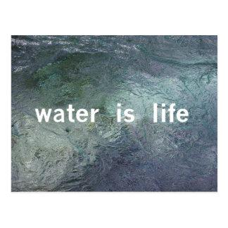 Water is life. No DAPL, Keystone XL, coal ash Postcard