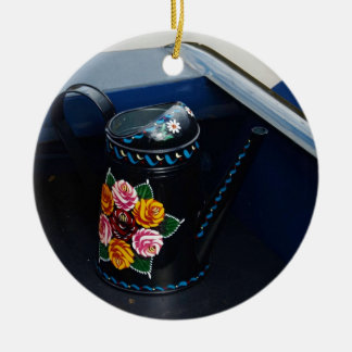 Water Jug Round Ceramic Decoration