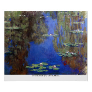 Water Lilies6_lg by Claude Monet Poster