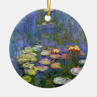 Water Lilies 10 Round Ceramic Decoration