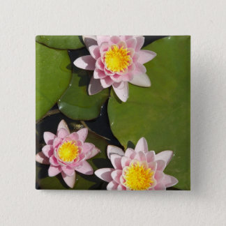 Water lilies 15 cm square badge