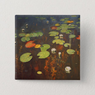 Water Lilies 1895 15 Cm Square Badge