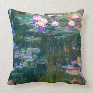Water Lilies 1917 Claude Monet Fine Art Cushion