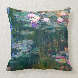 Water Lilies 1917 Claude Monet Fine Art Throw Pillow