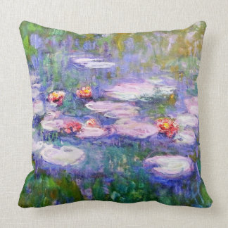 Water Lilies 1919 Claude Monet Fine Art Cushion