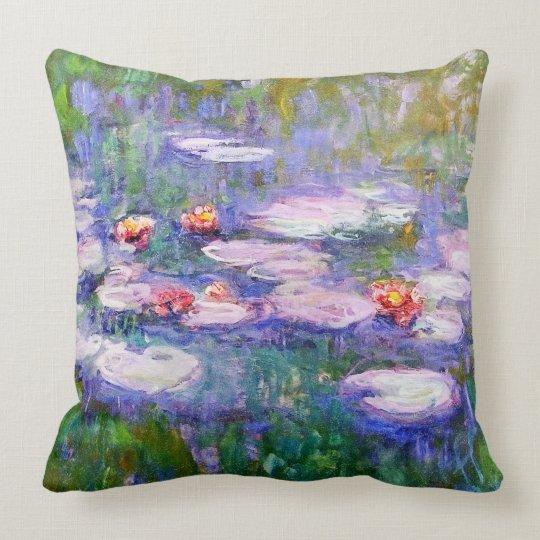 Water Lilies 1919 Claude Monet Fine Art Cushion