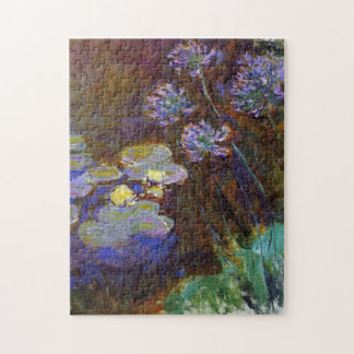 Water Lilies and Agapanthus Monet Fine Art Puzzle