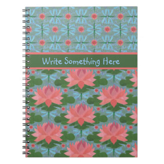 Water Lilies and Dragonflies Spiral Notebook