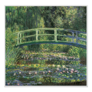 Water Lilies and Japanese Bridge, 1899 Poster