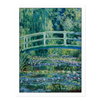 Water Lilies and Japanese Bridge by Monet Postcard