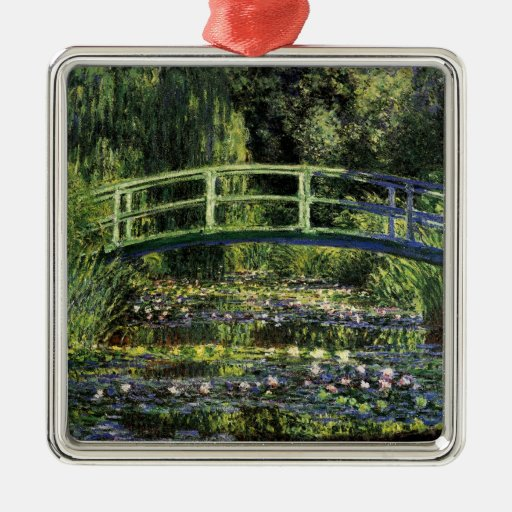 Water Lilies and Japanese Bridge Christmas Tree Ornaments