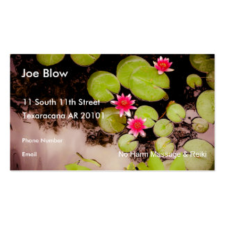 Water lilies and koi pond pack of standard business cards