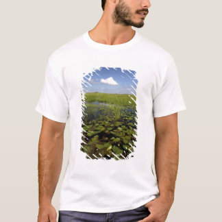 Water lilies and sawgrass in Florida everglades T-Shirt