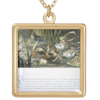 Water-Lilies and Water Fairies, illustration from Gold Plated Necklace