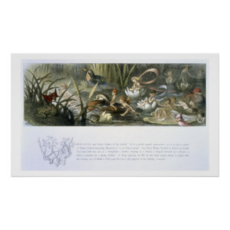 Water-Lilies and Water Fairies, illustration from Print