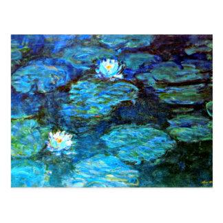 Water Lilies (blue) by Claude Monet Postcard