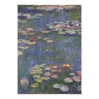 Water Lilies by Claude Monet 13 Cm X 18 Cm Invitation Card