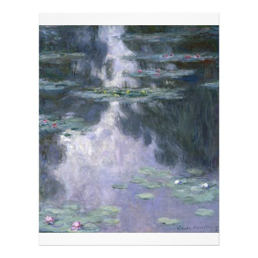 Water Lilies by Claude Monet. Flyer Design