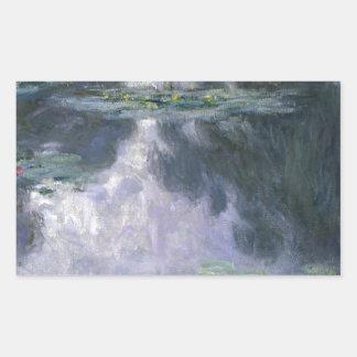 Water Lilies by Claude Monet. Rectangular Sticker