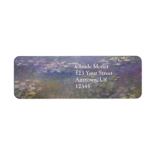 Water Lilies by Claude Monet Return Address Label