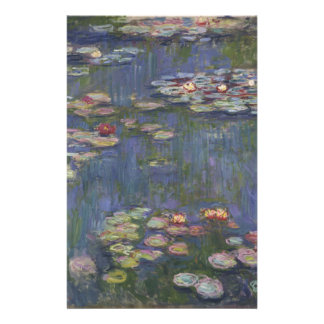 Water Lilies by Claude Monet Stationery