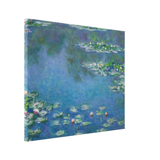 Water Lilies by Claude Monet Stretched Canvas Print