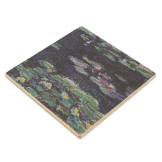 Water Lilies by Claude Monet Wood Coaster