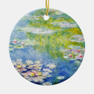 Water Lilies by Monet Round Ceramic Decoration