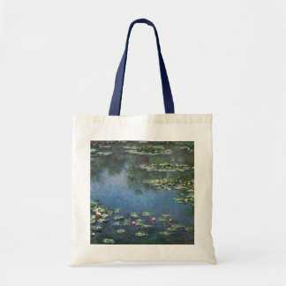 Water Lilies by Monet Vintage Floral Impressionism Budget Tote Bag
