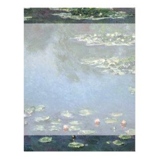 Water Lilies by Monet Vintage Floral Impressionism Full Color Flyer