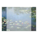 "Water Lilies by Monet Vintage Floral Impressionism 3.5"" X 5"" Invitation Card"
