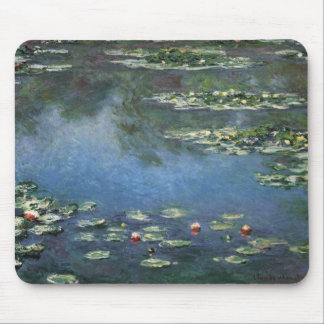 Water Lilies by Monet Vintage Floral Impressionism Mouse Pad