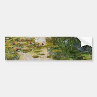 Water Lilies - Claude Monet Bumper Sticker