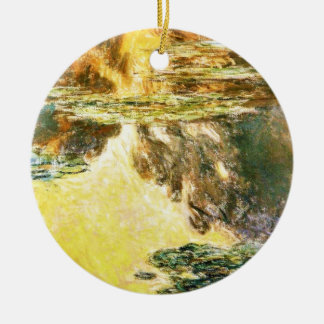 Water Lilies Claude Monet Christmas Tree Ornaments