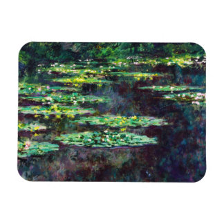 Water Lilies Claude Monet cool, old, master, maste Rectangular Photo Magnet