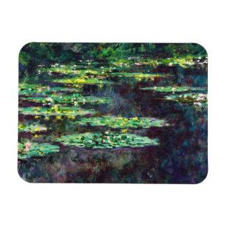Water Lilies Claude Monet cool old master maste Rectangular Magnet