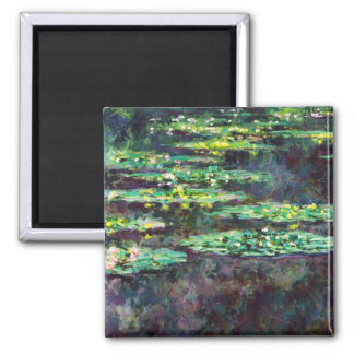 Water Lilies Claude Monet cool, old, master, maste Square Magnet