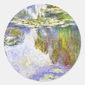 Water Lilies Claude Monet cool, old, master, maste Round Sticker