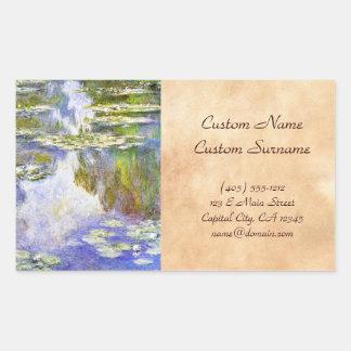 Water Lilies Claude Monet cool, old, master, maste Sticker