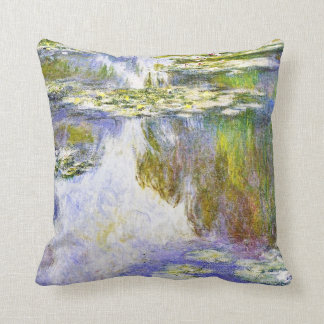 Water Lilies Claude Monet fine art painting Cushion