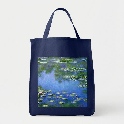 Water Lilies, Claude Monet Grocery Tote Bag