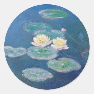 Water Lilies - Claude Monet Round Sticker