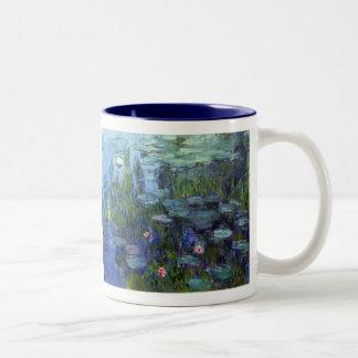 Water Lilies, Claude Monet Two-Tone Coffee Mug