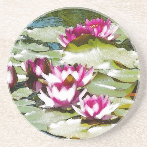 Water Lilies Drink Coaster