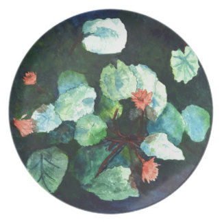 Water Lilies Collection - Large Floral Plate